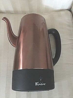 Euro Cuisine 12-Cup Electric Coffee Percolator in Copper Pre owned Near Mint