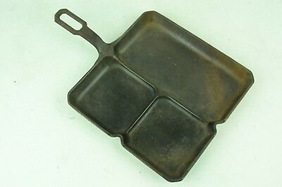 Rare Griswold # 666 Cast Iron Square Colonial Breakfast Skillet