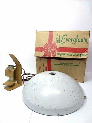 🎄Vintage Midcentury Rotating Christmas Tree Stand in Box, 🎶Plays Silent Night