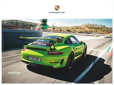 Original 2019 Porsche 911 GT3-RS Showroom Poster (set of 3 posters)