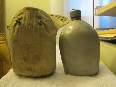 WWI, WW1 U.S. Military, Aluminum Canteen, with Cork in Top and Cover