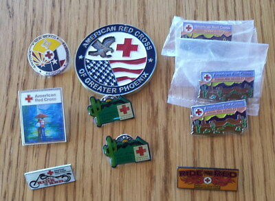 Lot AMERICAN RED CROSS  Collectible  Pins & Medallions -FREE SHIPPING!
