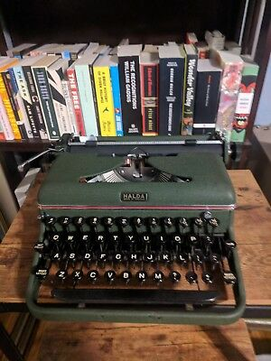 1953 Halda P Vintage Working Typewriter/ Mint/ Clean and Serviced/Ready to Type