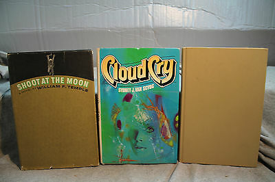 lot vtg old Sci-Fi CLOUD CRY SHOOT AT THE MOON MARTIANS GO HOME FREDRIC BROWN