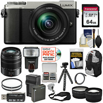 Panasonic Lumix DC-GX9 4K HD Wi-Fi Digital Camera & 12-60mm + 45-150mm Lens Kit