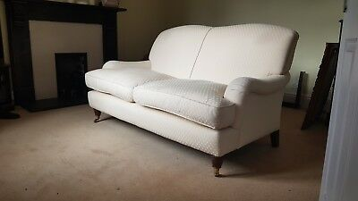 Laura Ashley 2 Seater Richmond Sofa In Ivory Cream Vintage