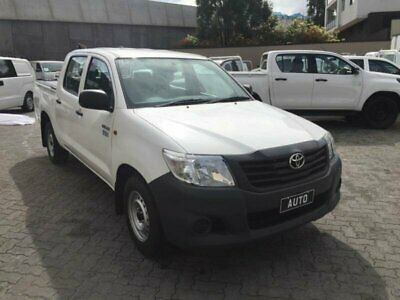 2014 Toyota Hilux TGN16R MY14 Workmate White Automatic 4sp A Dual Cab Pick-up