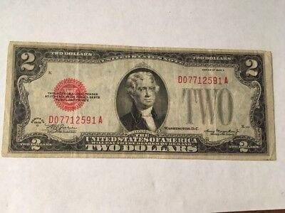 Two Dollar Red Seal Note Series 1928 D