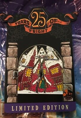 Disney 25 Years Of Fright Jack Skellington Annual Passholder Hinge Pin LE 4000