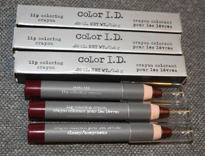 3 New in Box Mary Kay Color I.D. Lip Coloring Crayon  Classy 6809 Lot