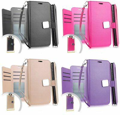 """For iPhone XR (6.1"""") PU Leather Multi Cards Wallet Case Diary Folio Pouch Cover"""