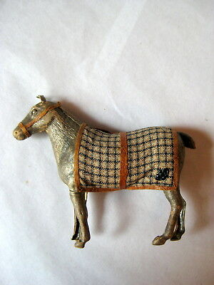 Antique Dresden Horse With Blanket German Christmas Ornament!