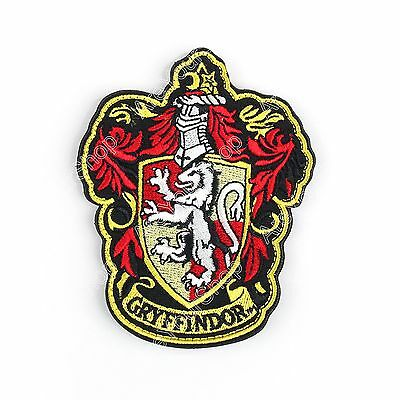 Gryffindor Harry Potter Hogwarts Slytherin Ecusson Brodé Patch Hook Loop Nouveau