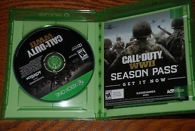 Excellent Condition Call of Duty: WWII (Microsoft Xbox One, 2017)