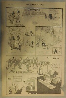 """""""The Rectangle"""" Sunday by Frank King from 3/24/1918 Tabloid Page Size!"""