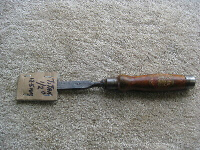 """EARLY TITAN 1/2"""" HEAVY REGISTERED FIRMER (or MORTICE) CHISEL Made in Australia"""