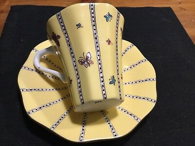Wedgewood Yellow Butterfly Cups (two )
