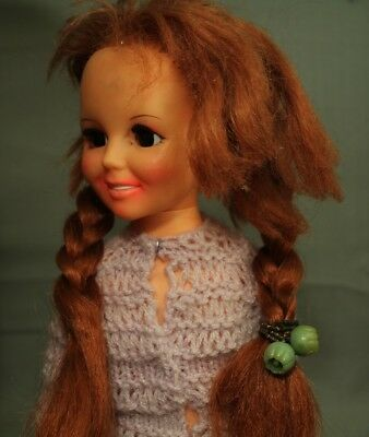 Vintage Ideal Orphan Amputee Crissy growing hair doll with original box