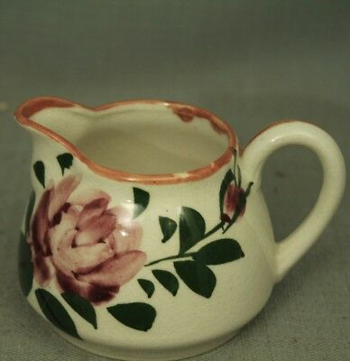 vintage creamer gravy small pitcher hand painted flower rose