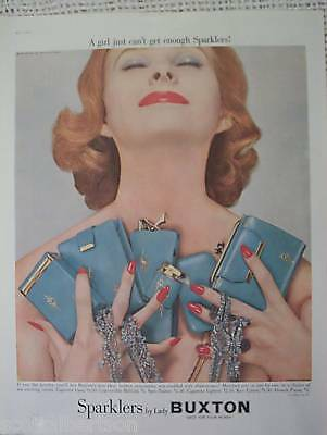 Sparklers Lady Buxton Formfit Bra Vintage Old Ad 1957