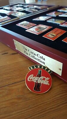 Willabee and Ward Coca-cola Pin Collection, with wood box