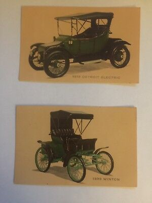 Lot Of Five Vintage Post Cards Rockefeller Museum Of Autos