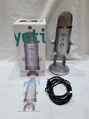 Blue Microphones Yeti Professional Usb Condenser Microphone Silver