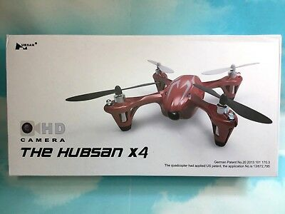 New Hubsan X4 H107C Quadcopter Drone HD Camera Red/Silver Bonus Battery RTF