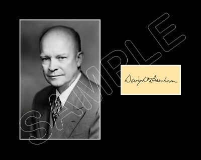 Dwight D Eisenhower Matted Photo Display 8X10 Repro Autograph President Ike