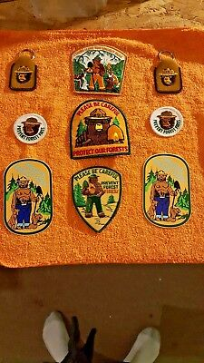 Smokey The Bear Patches  Vintage several different ones!