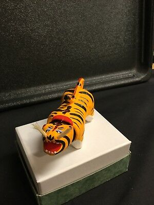 Paper Mache Nodding Tiger Chinese/Japanese W/whiskers