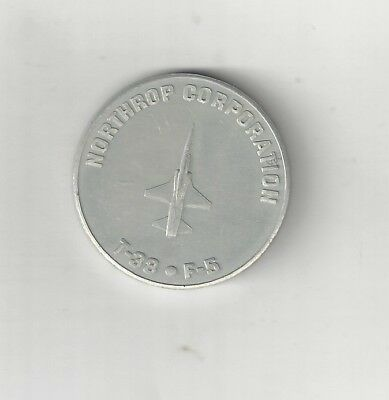 1963 Northrup Norair Corporation T-38 Talon F-5 Fighter Jet Coin Token