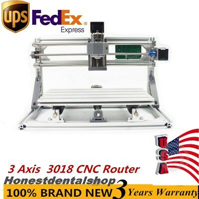 3 Axis Mini 3018 CNC Router Milling Engraving Machine Printer GRBL ControlUPS
