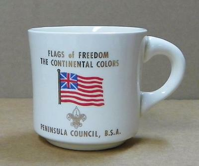Flags of Freedom Coffee Mug The Continental Colors Peninsula Council B.S.A VGUC