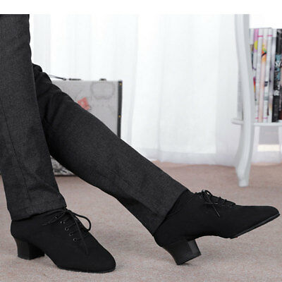 Adults Mens Modern Latin Tango Salsa Dance Shoes Heeled 4cm Practice Dance Shoes