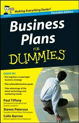 Business Plans for Dummies: Uk Edition by Tiffany, Paul Book The Cheap Fast Free