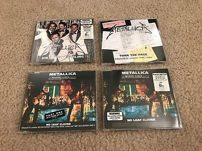 Metallica Import (4) CD Single Lot! No Leaf Clover Turn the Page Darling. Rare!