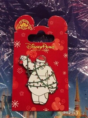 Disney Holiday 2018 Baymax Santa Hat Wrapped In Christmas Lights Pin OE New
