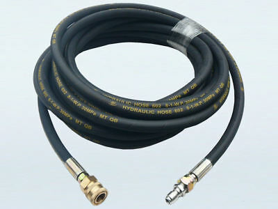 """10m Heavy Duty Wired Braided Pressure Washer Hose - 4350psi, 3/8"""" Quick Connect"""