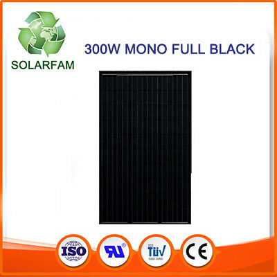 Photovoltaic solar panel European 300W 24V MONO-FULL BLACK