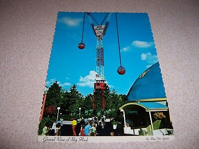 1970s THE SKY HOOK RIDE at SIX FLAGS over GEORGIA VTG POSTCARD