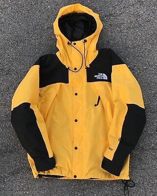 Vintage The North Face Gore Tex Mountain Jacket Large Yellow ski guide TNF 90s