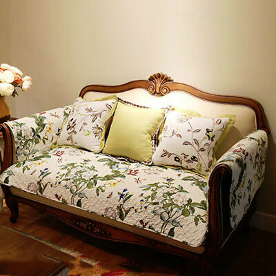 Leaves Anti-Slip Sofa Mat Slipcover Couch Pad Cover Cotton Protector Home Decor