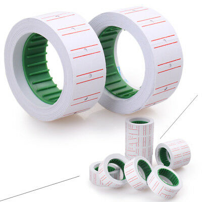 10Rolls White Price Pricing Label Paper Tag Tagging For MX-5500 Labeller Gun