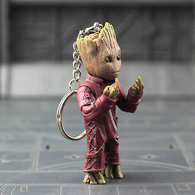 """Guardians of the Galaxy Vol.2 Baby Groot 3"""" Key Chain Figure Statue Toy Gift New"""