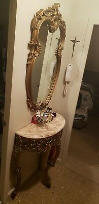 Large Antique Victorian Shelf And  Mirror 3577