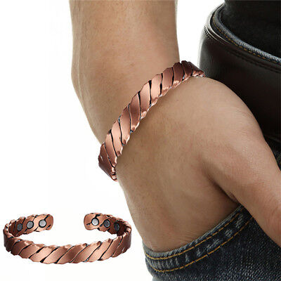 Magnetic Copper Bracelet w/FREE Pouch for Arthritis Pain Relief (TWISTED Design)