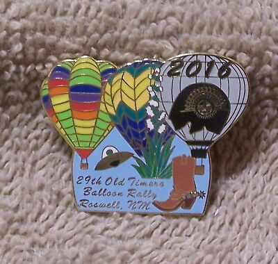 2016 29Th Old Timers Balloon Rally Roswell Nm  Balloon Pin