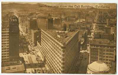 San Francisco from the Call Building CA California 1910s