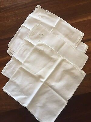 13 vintage cotton embroidered Motif Napkins Serviettes Unused.